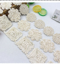 7 yards/lot 3D Cotton Embroidery Lace Trim Flower Laciness DIY Hair Accessory Material Fabric(China (Mainland))