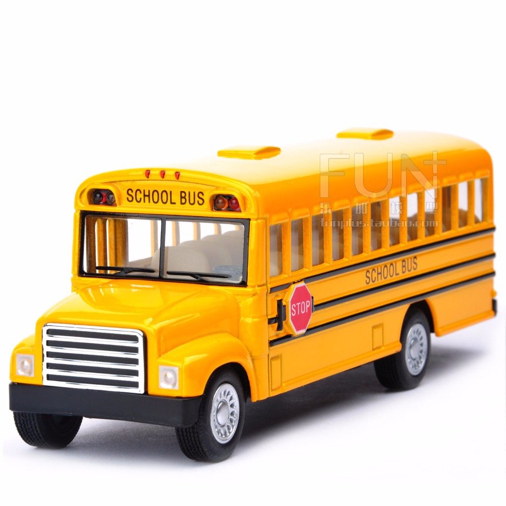 Brand New Kinsmart American school bus Alloy model toys Leap to jump Children like the gift Free Shipping(China (Mainland))