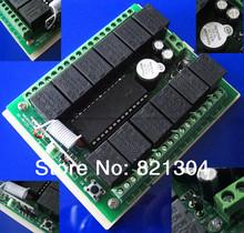 6 комплект /lot DC12V 12 канальный по радио рф беспроводной пульт дистанционного управления 315 мГц реле беспроводной приемник и передатчик