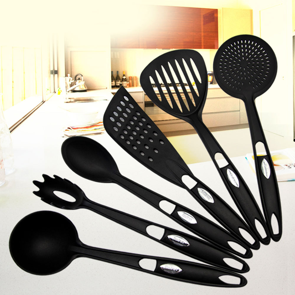 Top grade nylon 6pcs kitchen cooking tools set of slotted for Kitchen tool set of 6pcs sj