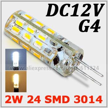 5x G4 2W SMD 3014 LED Bulb 2 Watt Warm White Car Boat Spot Light Lamp DC 12V For Crystal Light Decoration(China (Mainland))