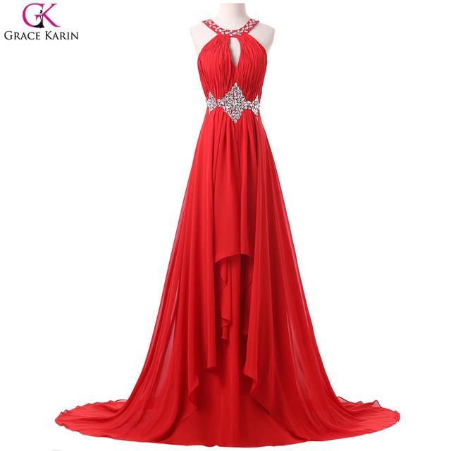Сексуальное красное платья 2016 русалка платье реальные фото грейс карин узелок из ...