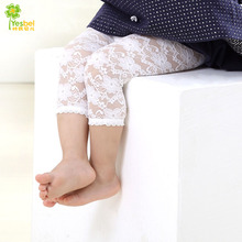 summer 0-2y baby white lace legging kid calf-length  pants  pantyhose stocking Elastic Waist Kid Skinny Pants   Trousers