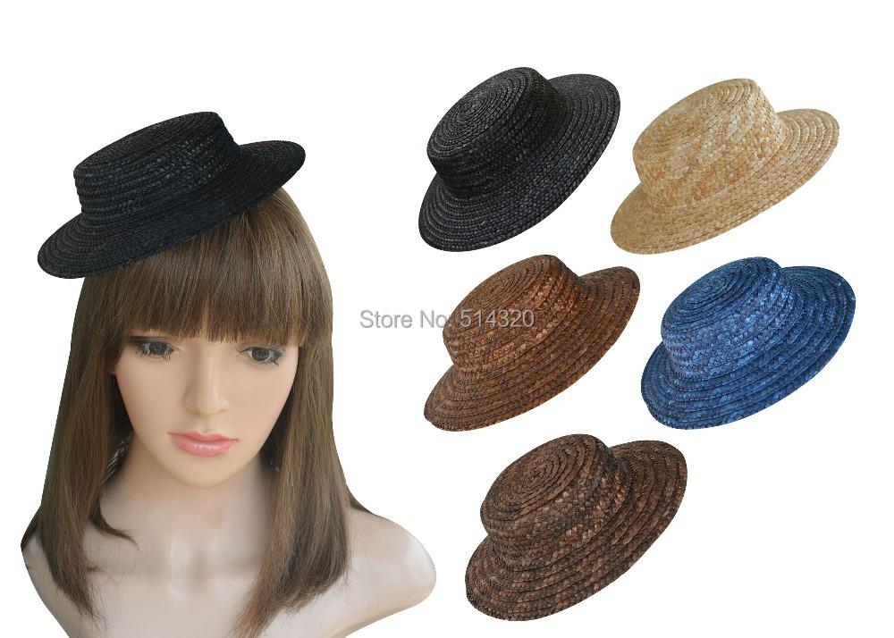A224 10pcs Mini Top Straw Hats Craft Making Fascinator Millinery Supplies(China (Mainland))