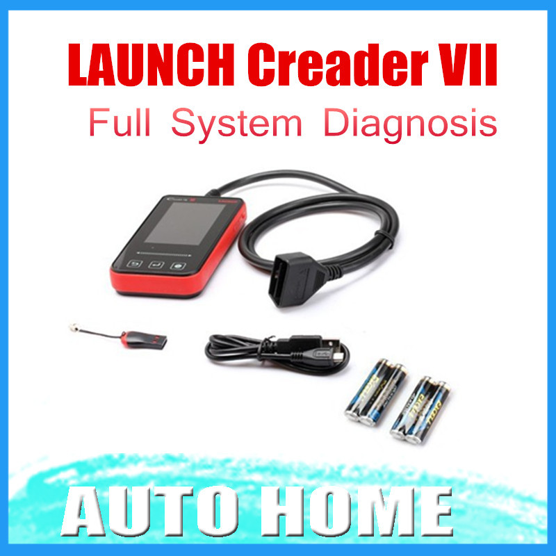 IN STOCK! 100% Original Launch Creader VII with Five free software Full System scanner Update online Fast shipping(China (Mainland))