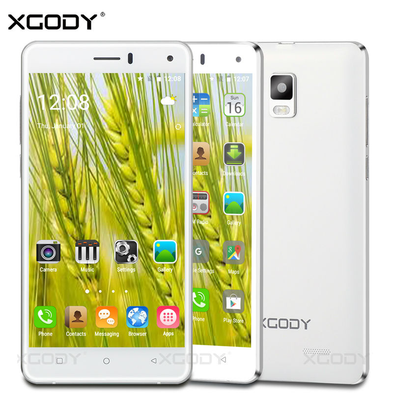 XGODY X12 Smartphone 5'' Quad Core 2GB RAM 16GB ROM Mobile Phone Android 5.1 8MP 1280*720 with Wifi GPS 3G Cellphone(China (Mainland))