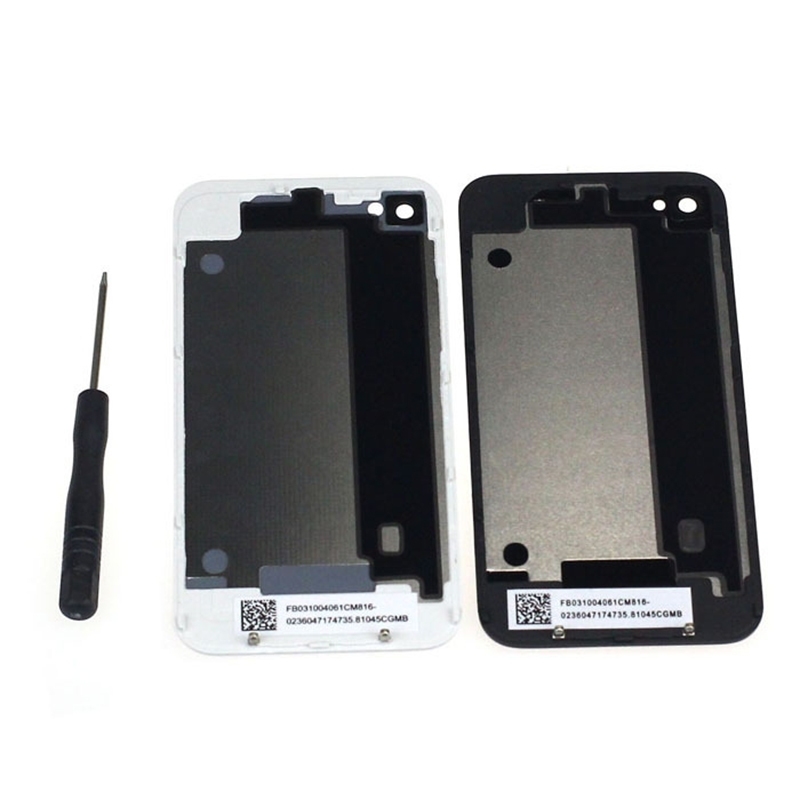 1pcs Battery Back Cover Housing Replacement For iPhone 4 4G White/Black With Tools Phone Parts for iPhone 4 Free Shipping(China (Mainland))