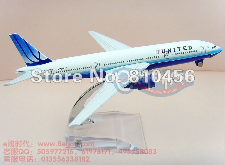 Free Shipping,United Airlines plane model 16cm 1:400 B777 aircraft model aeroplane model(China (Mainland))