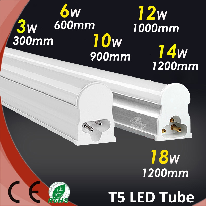 10Pcs/lot 3W 7W 10W High Power T5 Led Tube Cold White Smd3014 85~256AC 180 angle Beam Led Lights For Home Power Led Tubes(China (Mainland))
