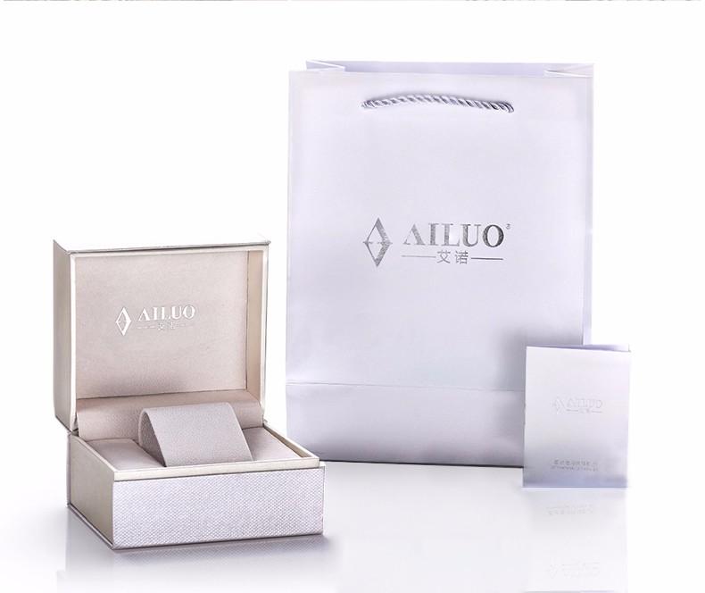 Ailuo Эксклюзивная Модная Женская Повседневная Бизнес Смотреть Женщин Элегантный Алмаз Кварцевые Часы Ретро Алмаз Наручные Часы Водонепроницаемые 50 М