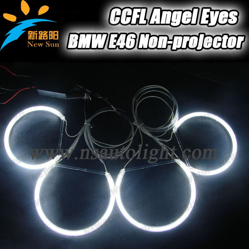 Halo Rings CCFL Angel Eyes Kit BMW E46 Non Projector 2*131MM + 2*145MM ccfl angel rings 2 inverters - Nanjing Newsun Photoelectric Limited Company store