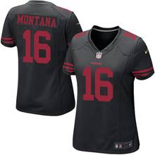 Stitiched,San Francisco 49ers Colin Kaepernick Steve Young Joe Montana Carlos Hyde DeForest Buckner Vernon Davis for women(China (Mainland))