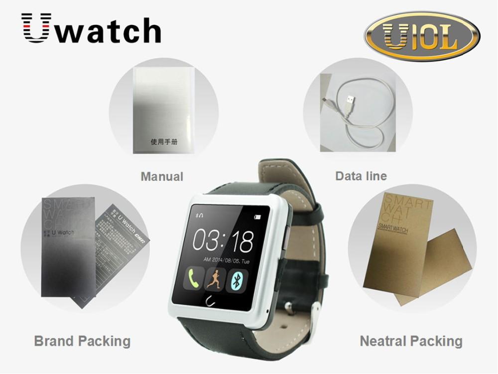 ถูก U10L Uดูสมาร์ทนาฬิกาข้อมือสำหรับiPhone 6 5 5วินาที4 4วินาทีซัมซุงS4 S5หมายเหตุ4 HTCโทรศัพท์Androidมาร์ทโฟนปรับปรุงU8/U10