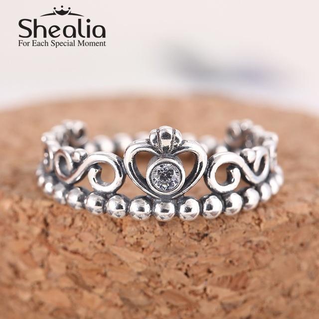 2015 новый моя принцесса 925 серебряные циркон обручальные кольца для женщин подходит известный бренд ювелирных изделий SH0563