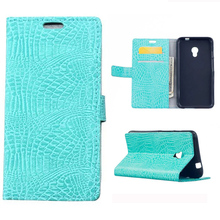 ZTE Blade V7 Luxury Crocodile Skin Wallet PU Leather Cover Case Card Slots Stand Holder Flip Phone Bag - Charming Cellphone accessories Store store