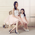 2016 Baby Girl Clothes Clothing Mother Daughter Dresses In The Summer Family Skin tight Dress ropa