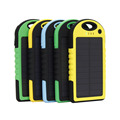 New 8000mAh Solar Power Bank With LED Light Portable Travel Outdoor Phone Charger USB External Battery For iphone5 samsung s6