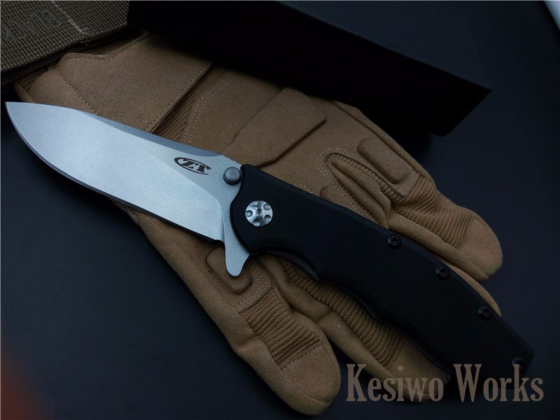 Buy Tactical folding knife outdoor camping hunting survival pocket knife D2 blade G10 Steel handle knives EDC hand tools ZT0562 cheap