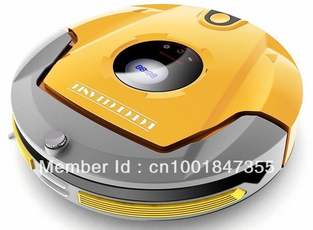 Intelligent robot vacuum cleaner(Ultra thin body design,Wireless remote,Automatic recharge,Schedule Work,Virtual Wall)