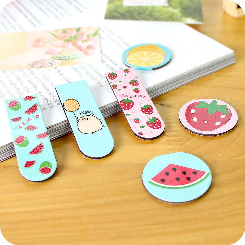 Cute Kawaii Magnetic Paper Bookmark Lovely Cartoon Cat Totoro Bookmarks For Kids Gift School Supplies Free Shipping 835(China (Mainland))