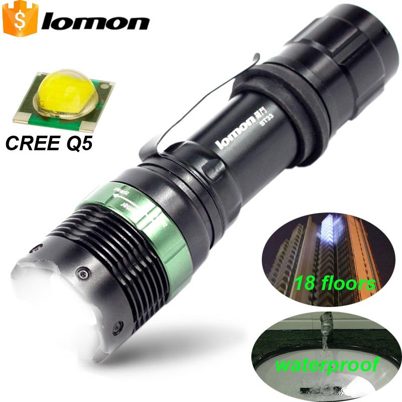 Portable Powerful Led Flashlight CREE Q5 Waterproof Police ...