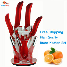 "Beauty Gifts brand high quality 6 piece a set Zirconia kitchen set Ceramic Knife tool Set 3"" 4"" 5"" 6"" inch + Peeler+Holder(China (Mainland))"