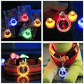 New Arrival Circular Leads Puppy Cat Pendant Necklace Safety Night Light Flashing Led Pendant Dog Collar