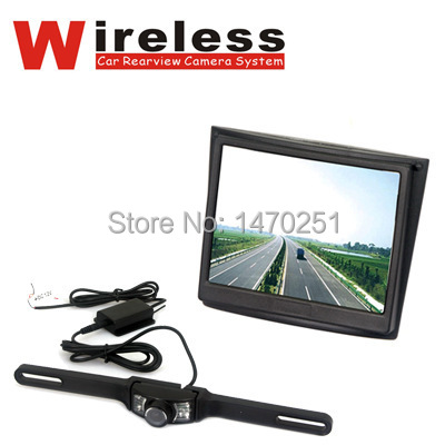 New 2.4GHz Wireless Vehicle Car Rear View Camera Day Night Camera with Color 3.5-Inch TFT LCD Display Monitor Free Shipping(China (Mainland))