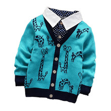 2015 new fall Two sets 100% good quality boys and girls cardigan sweater coat .Children's sweater,baby clothing 2-5Y