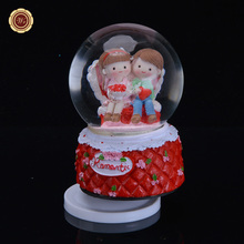 Buy WR Hot Selling Snow Glass Crystal Ball Christmas Gift Best Music Box Birthday Gifts New Year Decoration Romantic Valentine's Day for $18.62 in AliExpress store