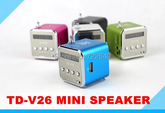 Аудио колонка Made in China TD/v26 soundbox MP3 MP4 PC, fm/, USB, TF/SD TD-V26 аудио колонка tt 028 nizhi fm tf usb mp3 4 100pcs lot tt028