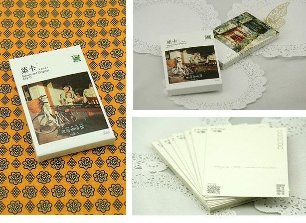 Ideal Cafe Original Postcard the hearts of the most beautiful cafes Christmas Greeting Cards/Love Gift 30pcs/set Free Shipping(China (Mainland))