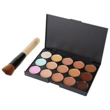Maquiagem Professional Salon Concealer Palette Makeup Party Contour Palette Face Cream Women Makeup Palette Multi-colored LE3(China (Mainland))