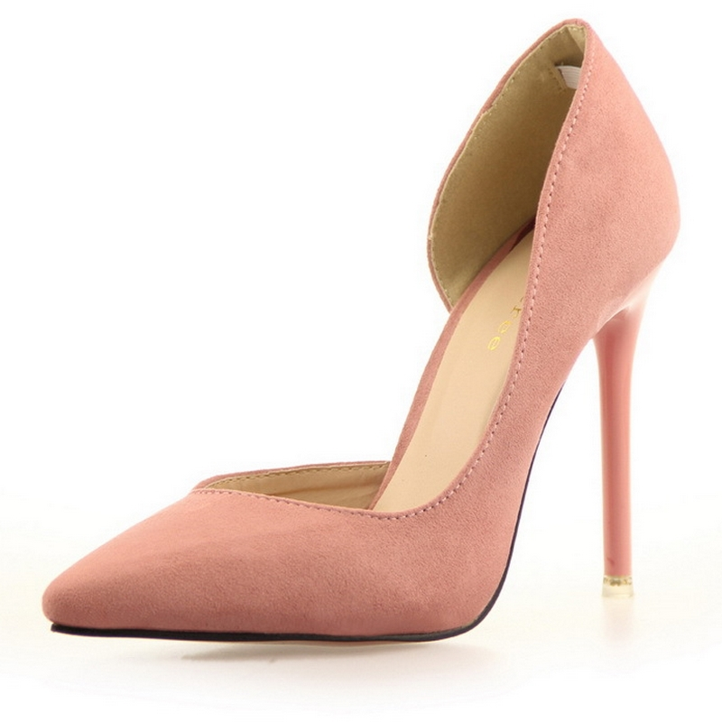Korean version of the stylish simplicity with thin high-heeled shoes hollow tip side of sexy Party shoes pointed toe pumps B207(China (Mainland))