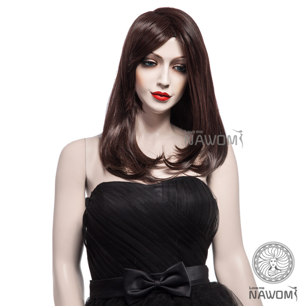 1 PC Brazillian Brown Full Lace Wigs Curly End Can Fit Good Face And Necklace Line Free & Drop Shipping(China (Mainland))