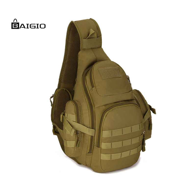 Baigio Tactical Military Daypack Sling Chest Pack Bag Molle Laptop Large Shoulder Bag Crossbody Duty Gear For Hunting Camping(China (Mainland))