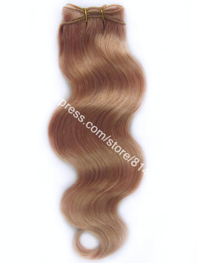 #16 Dark Honey Blonde Weave Body Wave 100% Brazilian Virgin Remy Hair Machine Weave Hair Virgin Human Hair Extension