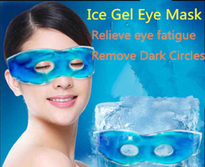 New Fashion Sleep Masks Summer ice goggles relieve eye fatigue remove dark circles eye gel ice pack ice goggles efficient sleep(China (Mainland))