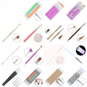 WUF 21 Different Styles DIY Nail Art Acrylic UV Gel Design Brush Painting Drawing Pen Tips Tools Kit (X01-21)