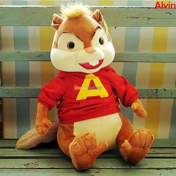 product Fancytrader 30'' / 75cm Alvin and the Chipmunks Super Cute Stuffed Soft AlvinSimonTheodoreBrittany ToyFT50239