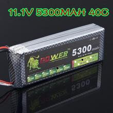 RC Quadcopter Lipo battery 11.1V 5300MAH 40C Lion Power For RC Car Helicopter 6 Channel Align Trex Akku T Deans Plug