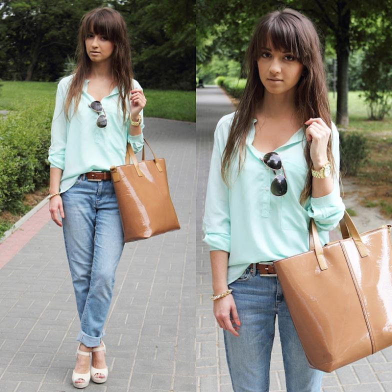 7 Colors Women's Spring Summer Clothes Long Sleeve Chiffon Blouse Ladies Mint Green Pocket Design Tops High Street Casual Shirt - Beauty Mother store