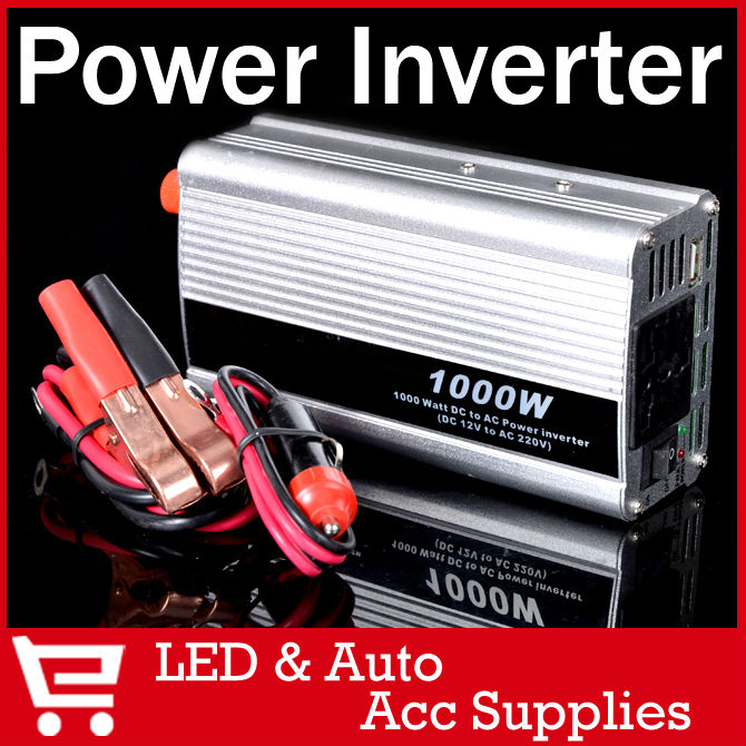 12V/220V Portable Automotive Power Inverter Charger Converter for Car Auto DC 12 to AC 220 Modified Sine Wave (Rated Power:600W)(China (Mainland))