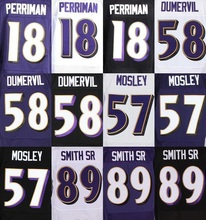 Wholesale Men's #5 Joe Flacco Jersey Black Purple White 57 C. J. Mosley 89 Steve Smith Sr Stitched Jerseys Fast Free Shipping(China (Mainland))