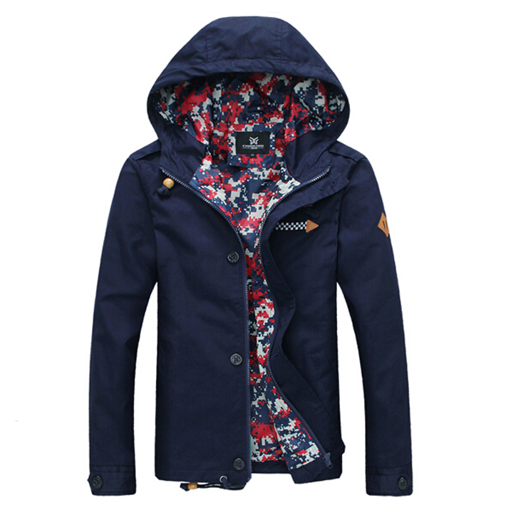 2015 Spring Autumn New Mens Windbreaker Jacket Men Jackets With Hood Fashion Casual Coats 5 Colors Chaqueta Hombre 13M0265Одежда и ак�е��уары<br><br><br>Aliexpress