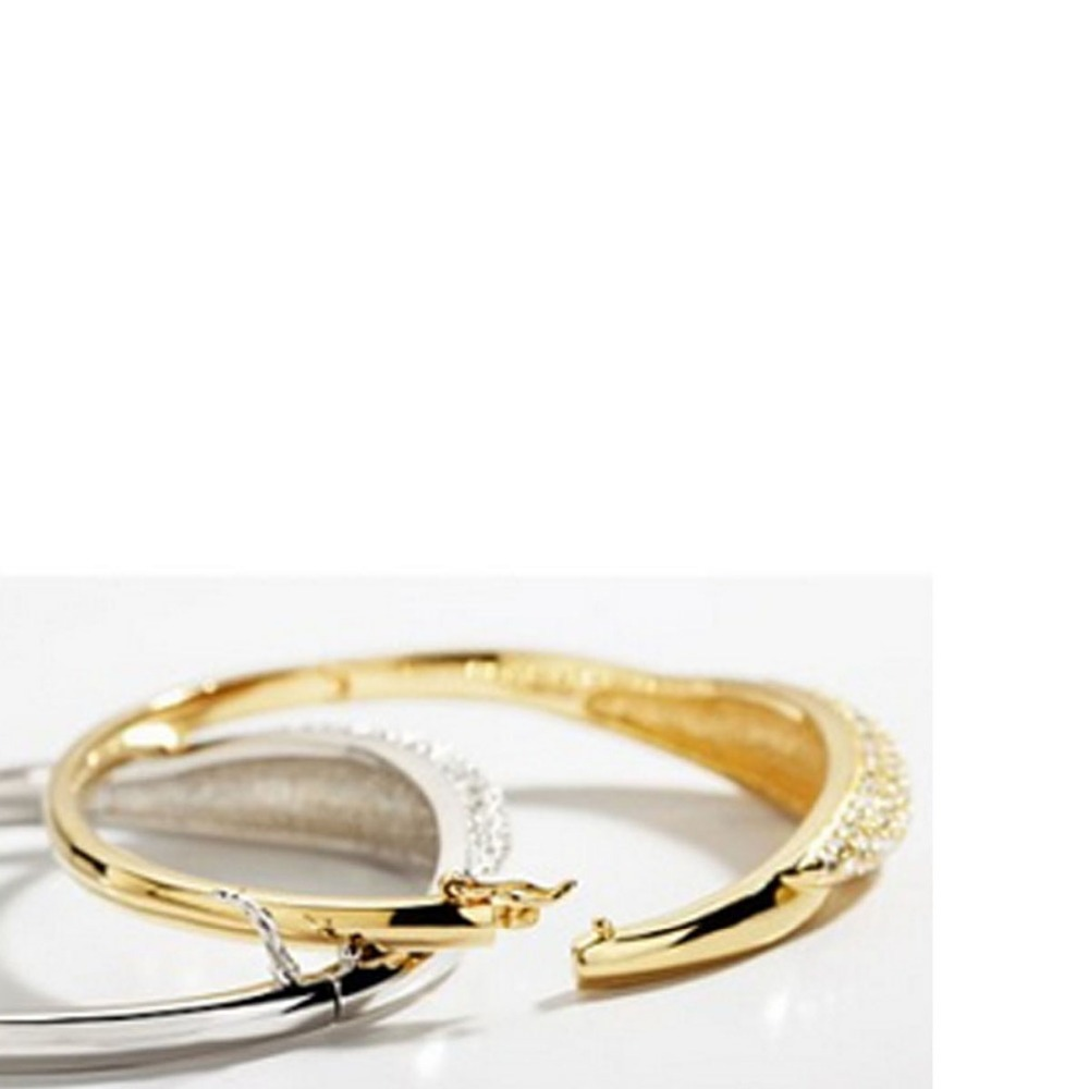 Yusong new design austria crystal bangle fashion jewelry for What is platinum jewelry made of