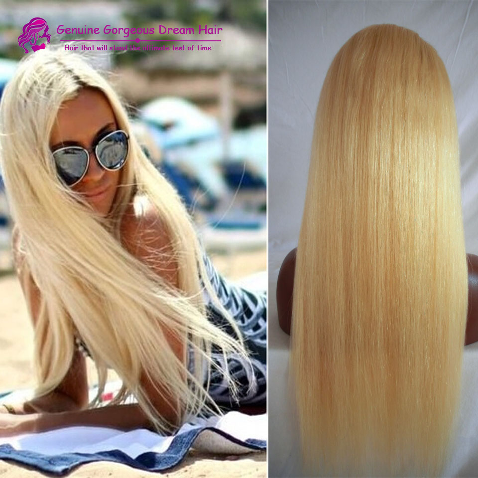 130% Natural Hairline Lace Front Wig/Glueless Full Lace Wig 100% Virgin Brazilian Human Hair Wig In Stock #613 Blonde Lace Wig<br><br>Aliexpress
