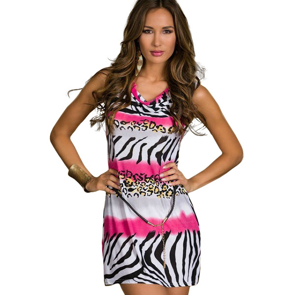 Compare Prices on Pink and Zebra Print Dress- Online Shopping/Buy ...