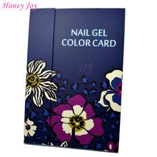 2016 Spring Flower Print 1 pc Professional 180 Colors Nail Gel Polish Display Card Book Chart with Tips Nail Art Salon Set(China (Mainland))