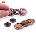 YKLWorld Full Brass Handspinner Copper Cross Fidgets Toy EDC Finger Spinner Toy For Autism ADHD Fast